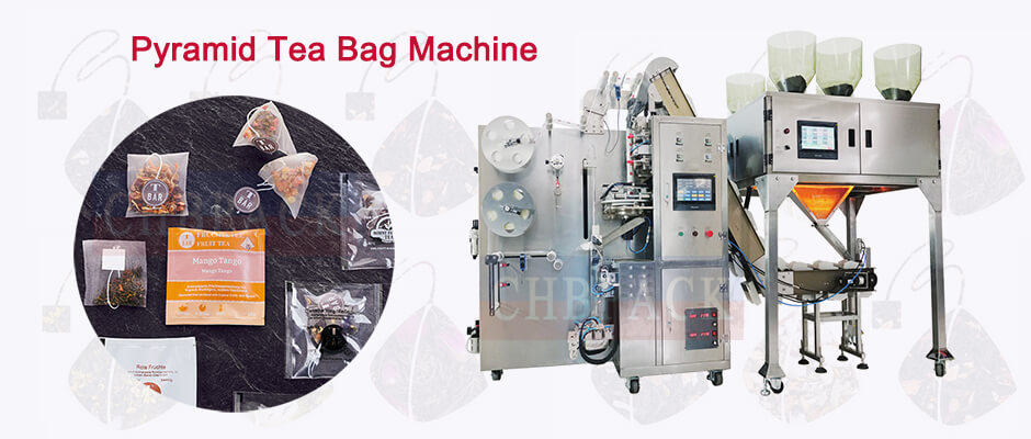 Pyramid tea bag packing_machine